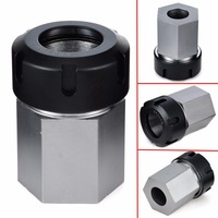1pc Hex ER32 Spring Chuck Collet Holder Hard Steel 45x65mm Mayitr For Lathe Engraving Machine