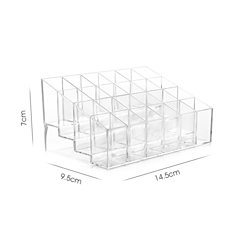 Multiple Grid Acrylic Transparent Makeup Organizer for lipstick Nail Polish and Cosmetic for Women 4