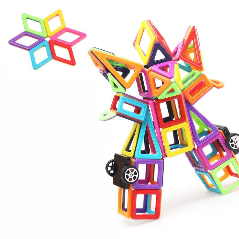 Toy Mini Magnetic 76/95/113 Pieces/lot Construction Building Blocks Toys DIY 3D Magnetic Designer Educational Bricks