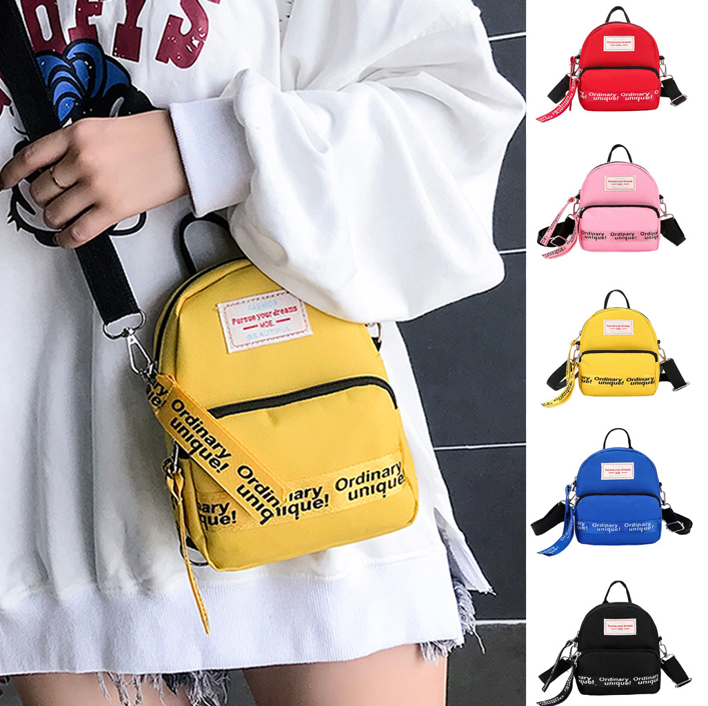 Mini Purse Messenger-Bags Crossbody Street Soft-Phone Nylon Casual Zipper And New