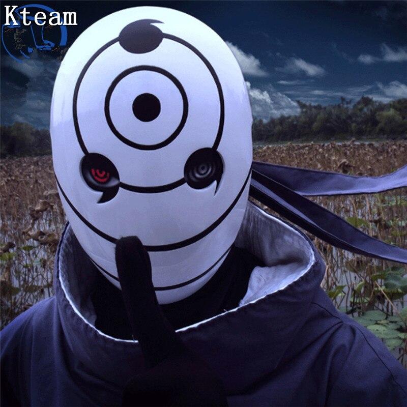 Top Grade Resin Naruto Mask Uchiha Obito Tobi Mask Cosplay Costume Helmet Halloween Resin Mask Props Gifts Party