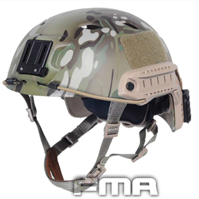 2017 FMA Tactical Skirmish Airsoft Jump Helmet A-Tacs High Quality For Combat Hunting TB973/TB472 Free Shipping 2017new fma maritime tactical helmet abs de bk fg for airsoft paintball tb815 814 816 cycling helmet safety