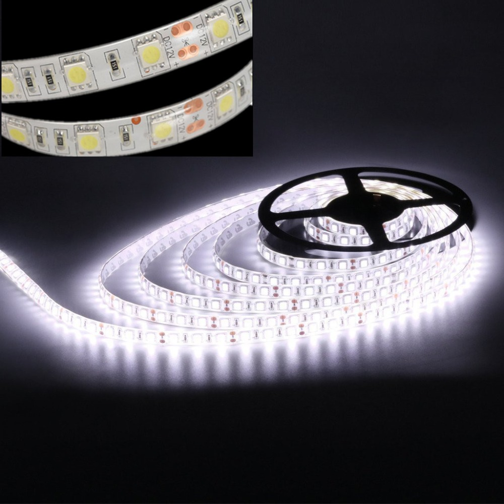 led strip light smd 5050 waterdicht ip65 dc 12v 300led 5m 6500k 3000k RGB koel wit warm wit rood blauw groen geel led tape