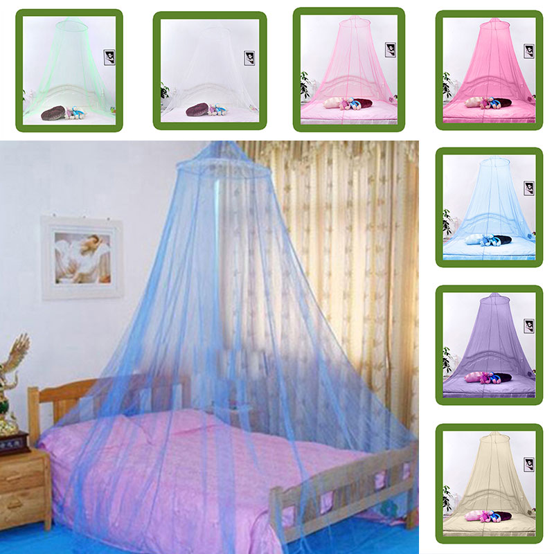 Outdoor Elegant Round Lace Insect Bed Canopy Netting Curtain Dome Mosquito ...