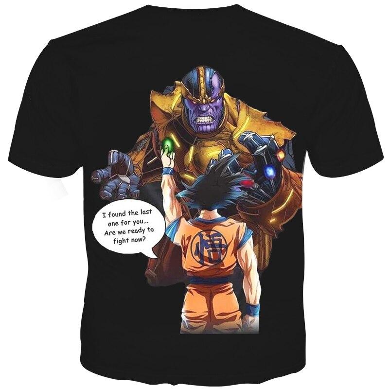 YOUTHUP 2018 Yeni Yaz 3D T-shirt Kişilər Çap Thanos VS Dragon Ball - Kişi geyimi - Fotoqrafiya 2