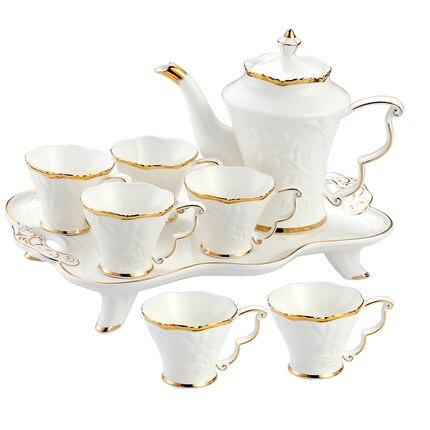 Europäische Keramik Haushalt Tee Tasse Set Einfache Wohnzimmer Wasser Mit Wärme beständig Tee Set Teekanne Kreative Kaffee Becher wasser Tasse