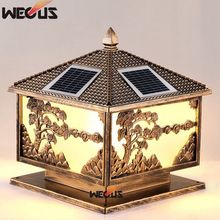 hot deal buy solar pillars lamps, outdoor bright wall lights, home villa garden lights,40*40*45cm