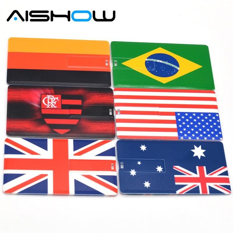 Hot Sale Pendrive 4GB 8GB 16GB 32GB 64GB Bank Credit Card Shape USB Flash Drive Pen Drive Memory Stick Best Gifts