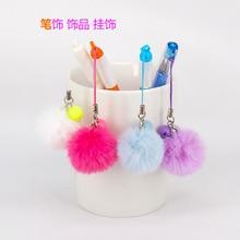 Hot Super Round Key Chain real Rabbit Hair Bulb Fur Plush Pom Poms Ball Bag Car Mobile phone Ornaments Pendant Key Ring jewelry