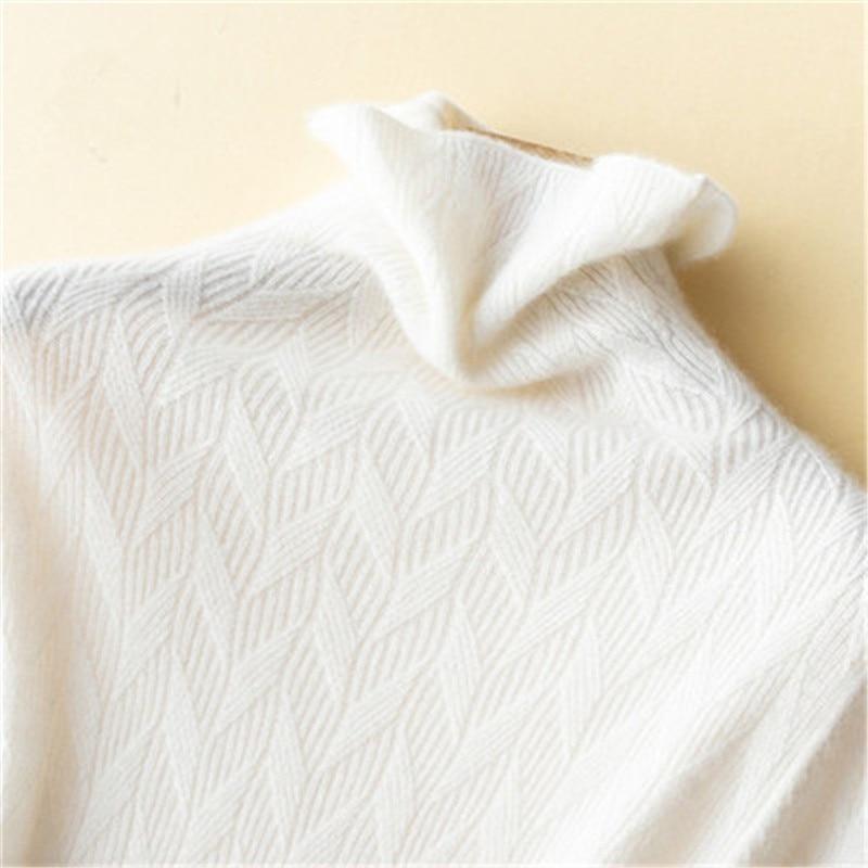 Чистый кашемир Твердые вязать для женщин Краткое водолазка тонкий короткий пуловер свитер белый 8 видов цветов S 2XL