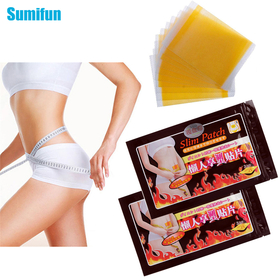 Sumifun 10Pcs/Bag Slimming Patch Weight Loss Cellulite Fat Burning Stickers Adelgazar Diet Fat Burner Product  C010
