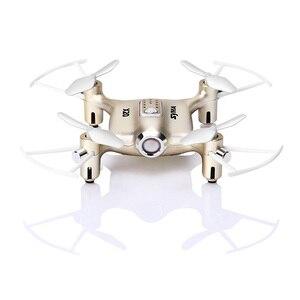 Image 4 - Syma X20 Mini Drone Dorato 2.4G 4CH 6 aixs Tasca di Telecomando Elicottero Quadcopter Gyro RC Dron 3D flip Bambini Giocattoli regalo