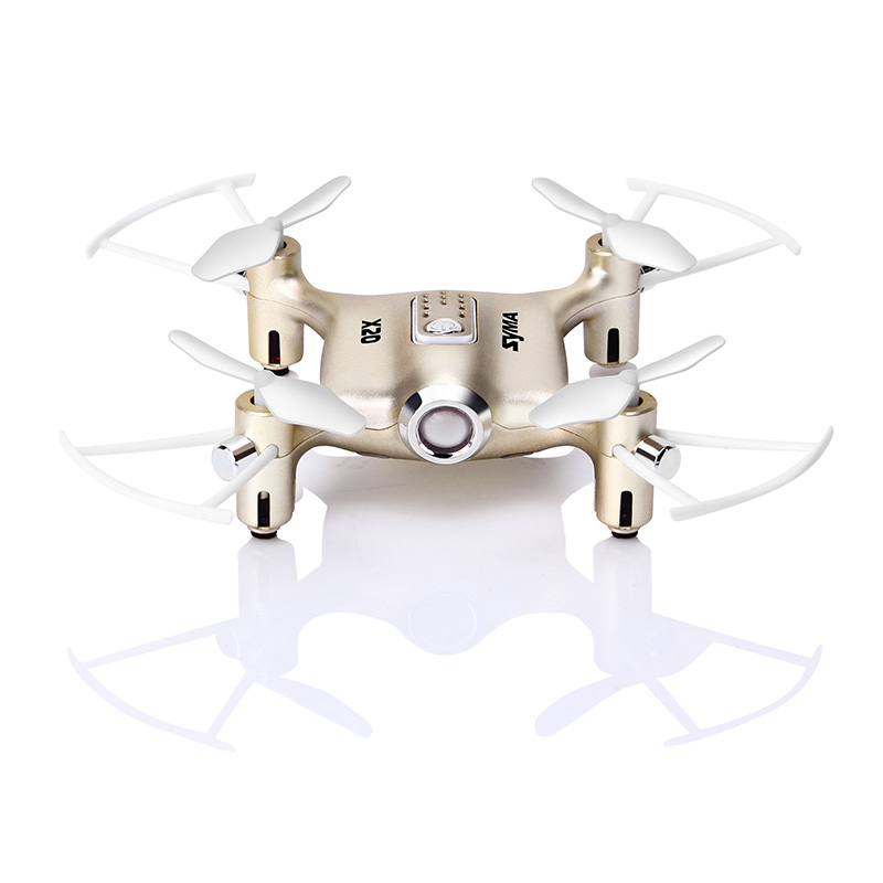 Image 4 - Syma X20 Mini Drone Golden 2.4G 4CH 6 aixs Remote Control Helicopter Quadcopter  Gyro Pocket RC Dron 3D flip Children Toys Gift-in RC Helicopters from Toys & Hobbies