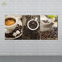 HD Printed Coffet life 3 Pieces/set Wall Art Canvas Prints Painting Pictures for Living Room Framless