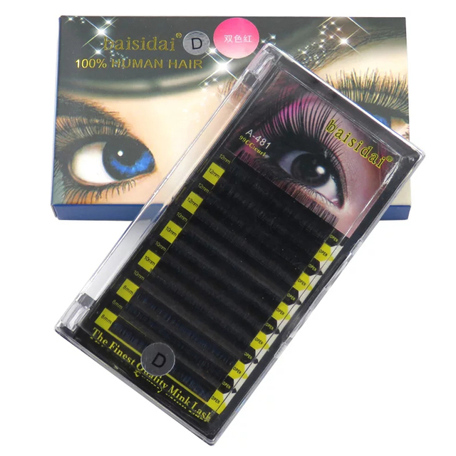 US $11 6 |Aliexpress com : Buy Free shipping Korea Super Soft Eyelash  Extension Two Tone Blue & Mix Length from Reliable eyelash extension  suppliers
