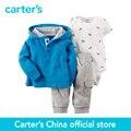 Carter 3 pcs bebê crianças Cardigan de Algodão Conjunto 127G054, vendido por carter oficial da China loja