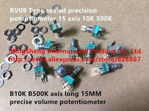Original new 100% RV09 Type sealed precision potentiometer B10K B500K axis 15MM precise volume potentiometer with screw SWITCH(China)