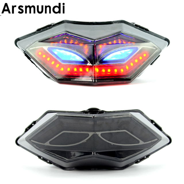 Motorcycle Led Tail Lights Rear Brake Taillights Cafe Racer Turn