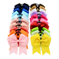 4 5Inch 20Pcs Mixed Colors Baby Girls Headwear Accessories Kids Bows Flower Hair Rings Baby Hair