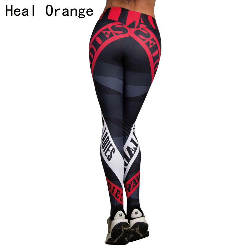 HEAL ORANGE Yoga Pants Fitness Leggings Sports Elastic Breathable Compression Female Tights Running Sexy Slim Crackle Printed new winter yoga suit five piece female ms breathable coat of cultivate one s morality pants sports suits running fitness