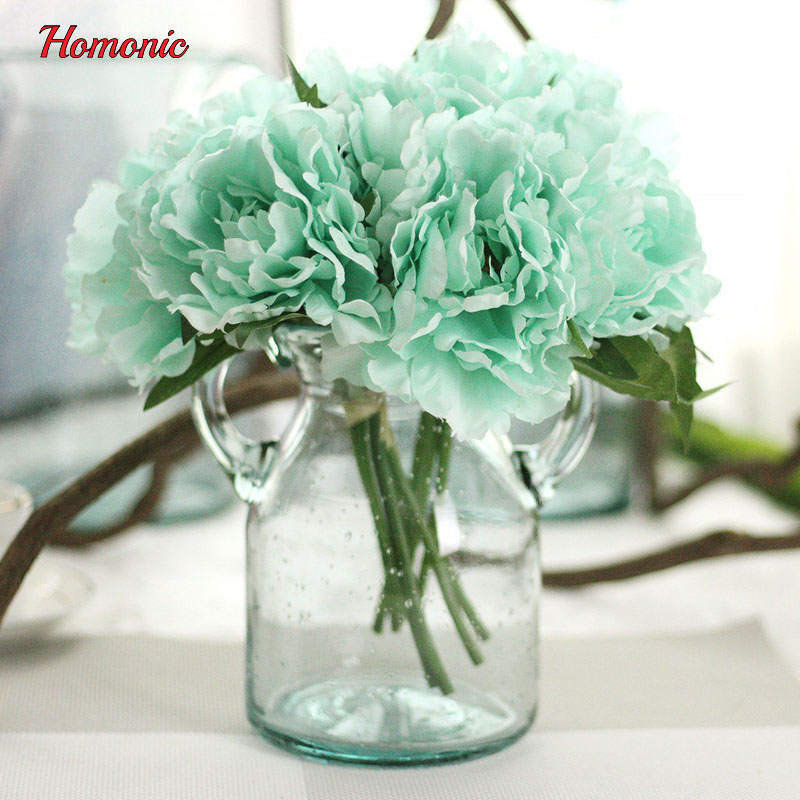 1 bouquet peony artificial fake peony silk flower artificial fake - Festive and Party Supplies
