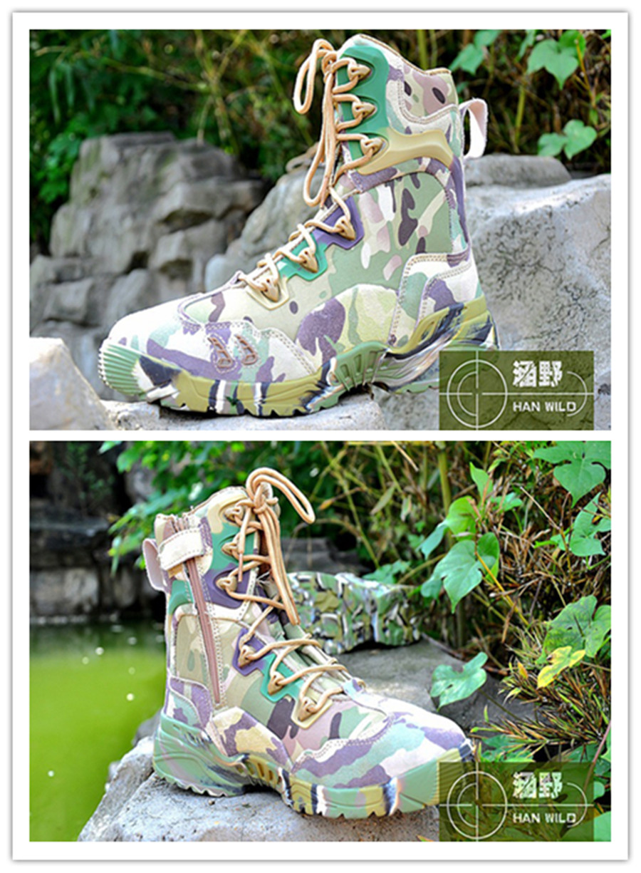 Military Camouflage Combat Boots Ankle Protection Breathable Men Outdoor Hunting Fishing High Top Sneakers Hiking Camping Shoes winter men s outdoor warm cotton hiking sports boots shoes men high top camping sneakers shoes chaussures hombre