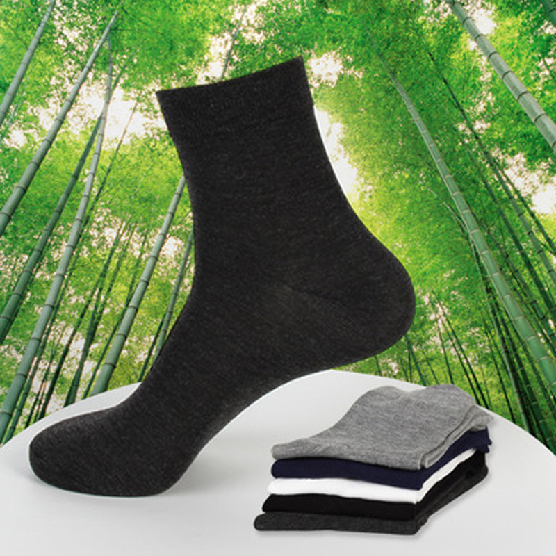 COCOTEKK 5pair/Lot Combed Cotton Bamboo Fiber Classic Business Socks Men Deodorant Dress Men Socks Wedding Socks Gift Quality