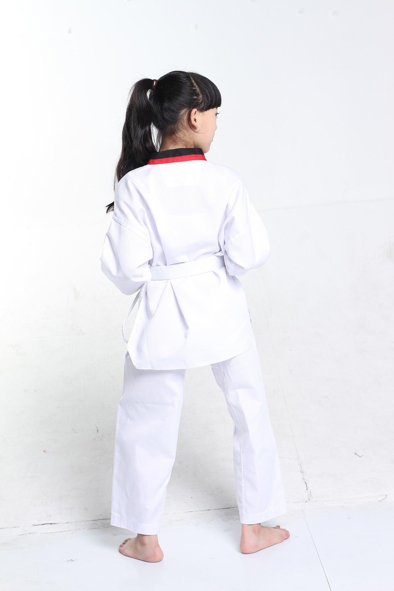 Children Kimono Judo Kickboxing Practice Costume White Kids Boys Girls Taekwondo Suit Karate Tae Kwon Do Clothes F106 5