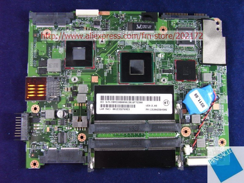 MBPEC0B009  Motherboard For  Acer Aspire 3810T 3810TG 3810TZ 6050A2264501 /SU2700 CPU