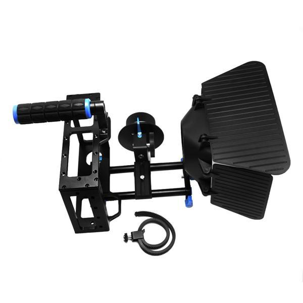 3 In 1 DSLR Rig Kit  Matte Box +Follow Focus+DSLR Cage for DSLR Cameras and Video Camcorders