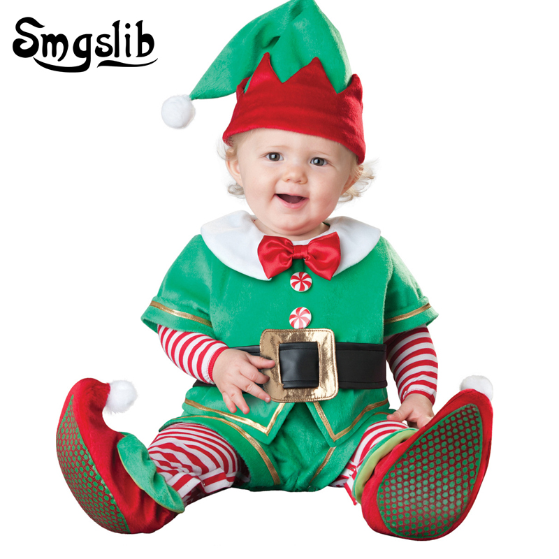 Baby christmas clothes deer santa claus costumes kids baby onesies newborn plush jumpsuit baby onesie first birthday boy party sr039 newborn baby clothes bebe baby girls and boys clothes christmas red and white party dress hat santa claus hat sliders