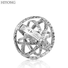 HIYONG New Fashion Korean Style 925 Sterling Silver Astronomical Ball Ring Vingate Simple Design Love for Lovers