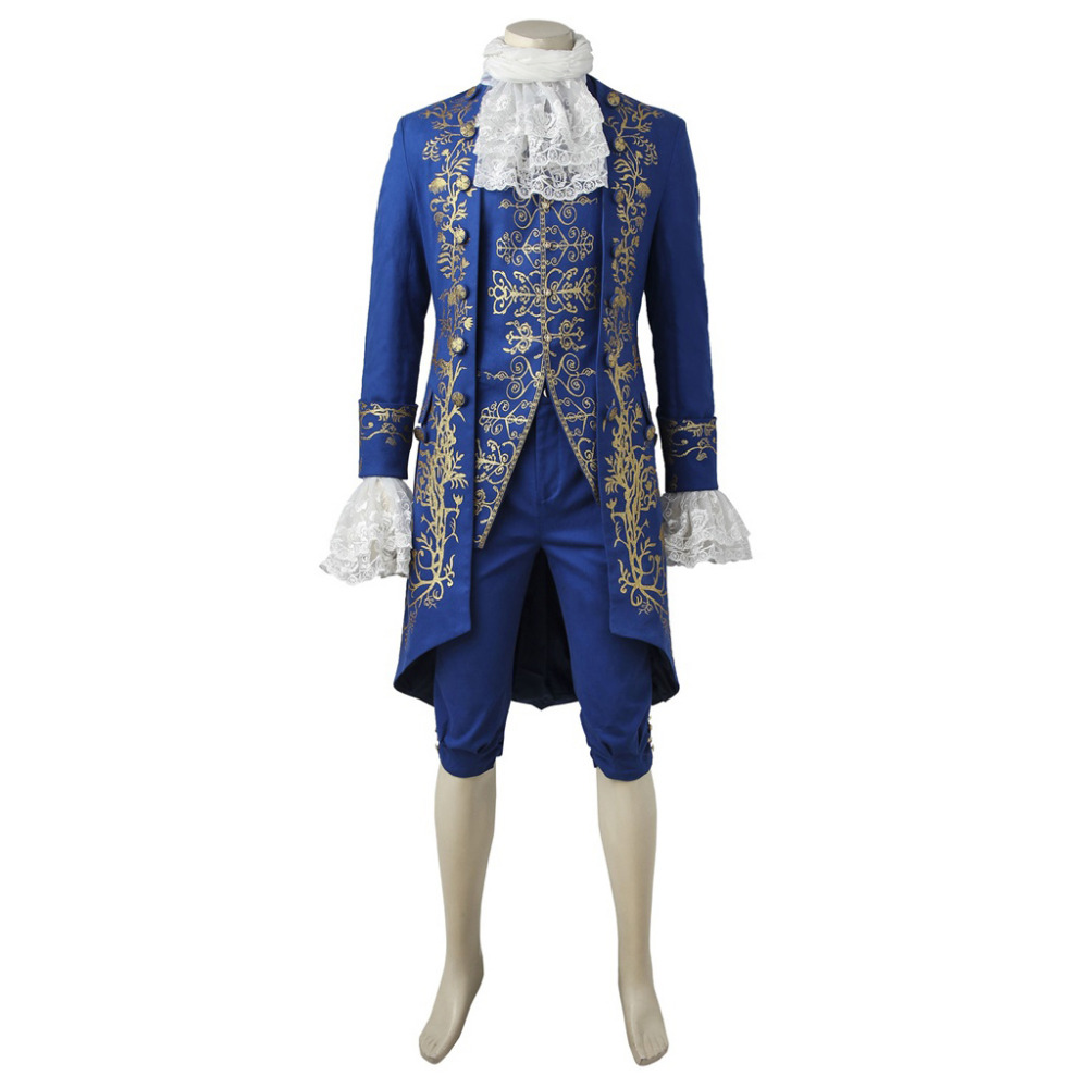 Beauty and the Beast Costume Beast Cosplay Prince Adam Costume Gentleman Outfit Adult Men Halloween Clothing 3675-1