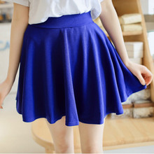 Candy Color Korean Pleated Mini Skirts