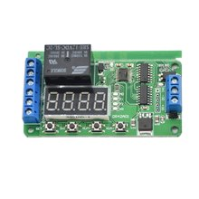 цена на DC 12V DPDT Relay Cycle Timer Module Delay Time Polarity Audio Motor switching Automated industry PLC