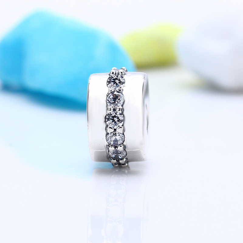 Authentic 100% 925 Sterling Silver Fit Original Pandora Bracelet Shining Path Clip Charms DIY Charm Beads for Jewelry Making