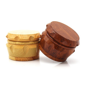 Image 5 - New Arrival Wooden Herb Grinder 63 MM 3 Layers Spice Herb Grinder with Metal Teeth Tobacco Hand Grinder Crusher Party Gifts 2019