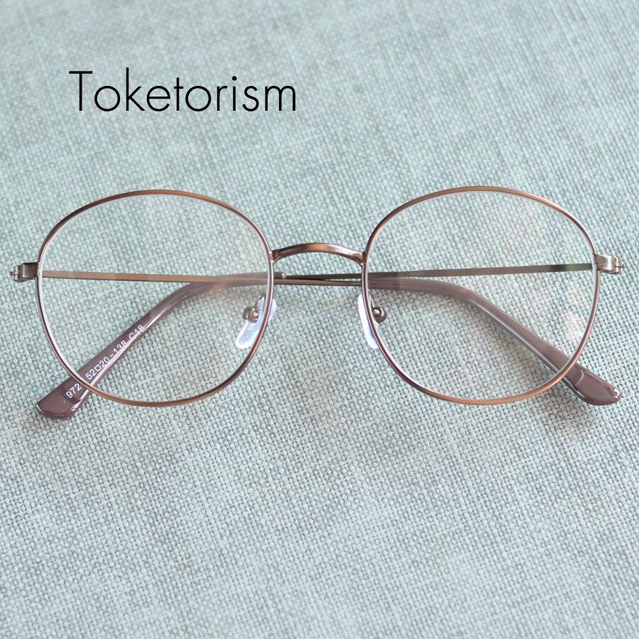 05679ae516ef0b Toketorism Haute qualité ronde en métal cadre lunettes pour femmes hommes vintage  lunette de vue 8279
