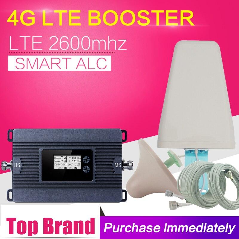 Rapide 4g Réseau 80dB 4g LTE 2600 Cellulaire Téléphone Signal Booster 4g LTE Mobile Répéteur de Signal Cellulaire répéteur 4g Amplificateur Antenne