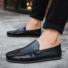 Leather Spring Summer Driver Male Loafers Shoes For Men Flat Adult Breathable Light Moccasins  Footwear 5