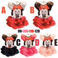 2015 historieta de Mickey minnie mouse vestido de las muchachas para el partido ropa del cabrito del bebé de los niños del desgaste del verano de moda encantadores vestidos