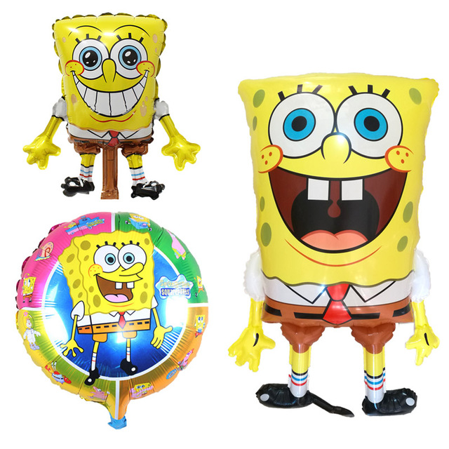 93d33ba4528ea 1pcs birthday balloons 3D spongebob party supplies ballon balon baby decor  children Brithday party decoration spongebob balloons
