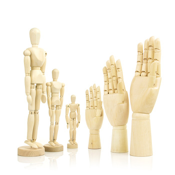 Wooden Hand Man Wood Drawing SKETCH Mannequin Modle Artist Movable Limbs Human Male Miniatures Figurines Decoration Crafts