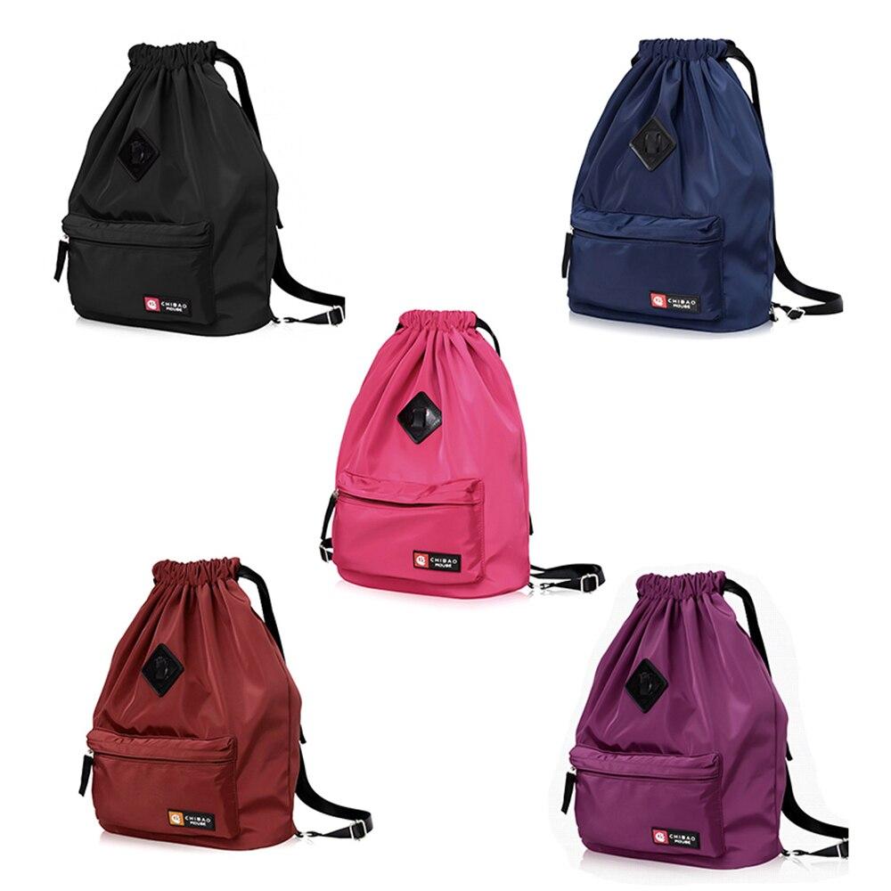 Шнурок фестиваль мешок рюкзак нейлон для спортзала спортивных Фитнес путешествия Йога Для женщин Обувь для девочек студент сумка рюкзак