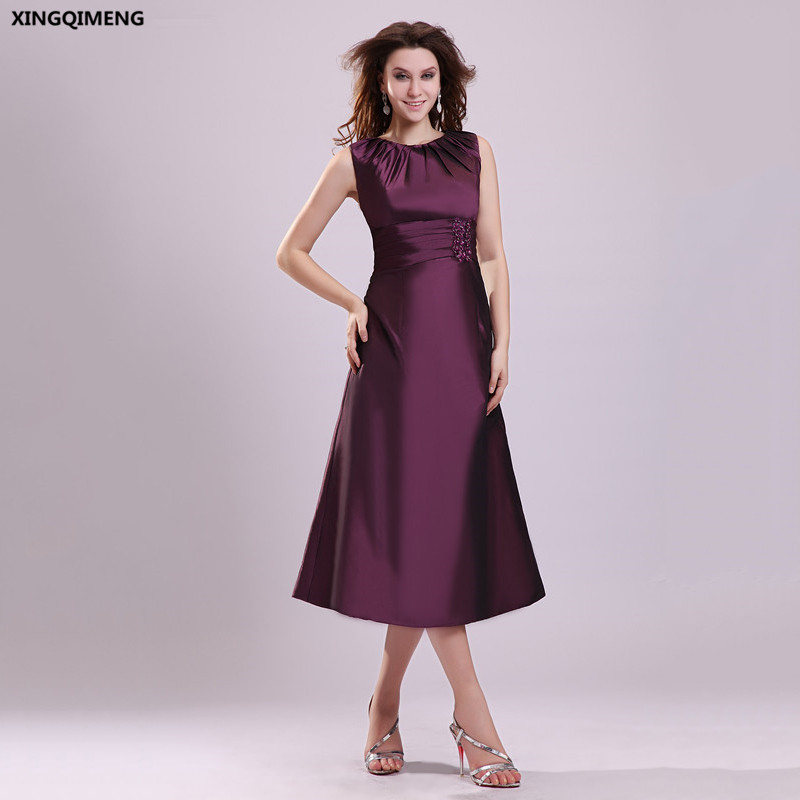 Discount Designer Evening Dresses: Elegant Cheap Simple Pleat Evening Dress Satin Beaded