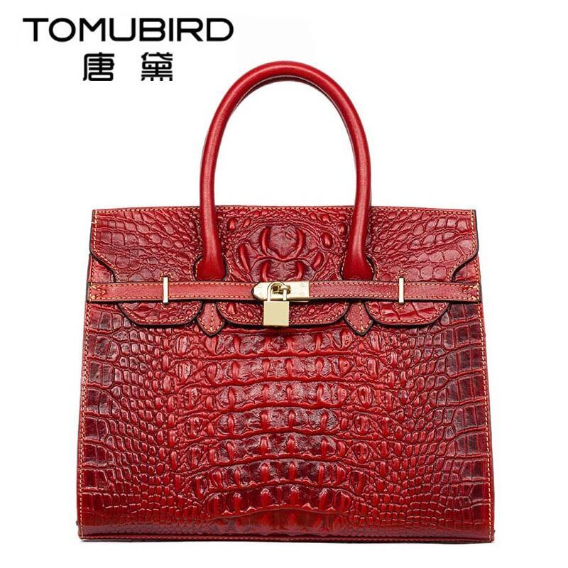 цена на Famous brand top quality Cow Leather women bag  Original upscale handbags Crocodile pattern Shoulder Messenger Bag Platinum Pack