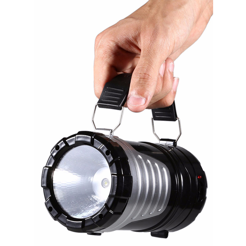 Super Bright Retractable Outdoor Tent USB Solar Camping Lamp LED Lantern Light for Hiking Emergencies Outdoor Lighting