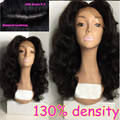 130 Density Silk Base Glueless Full Lace Wig Indian Virgin Human Hair Body Wave Lace Front Wig Baby Hair Black Women
