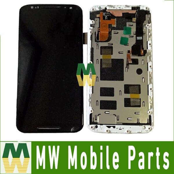 For Motorola Moto X2 XT1092 XT1095 XT1097 LCD Display Touch Screen Sensor Digitizer with frame Black White Color