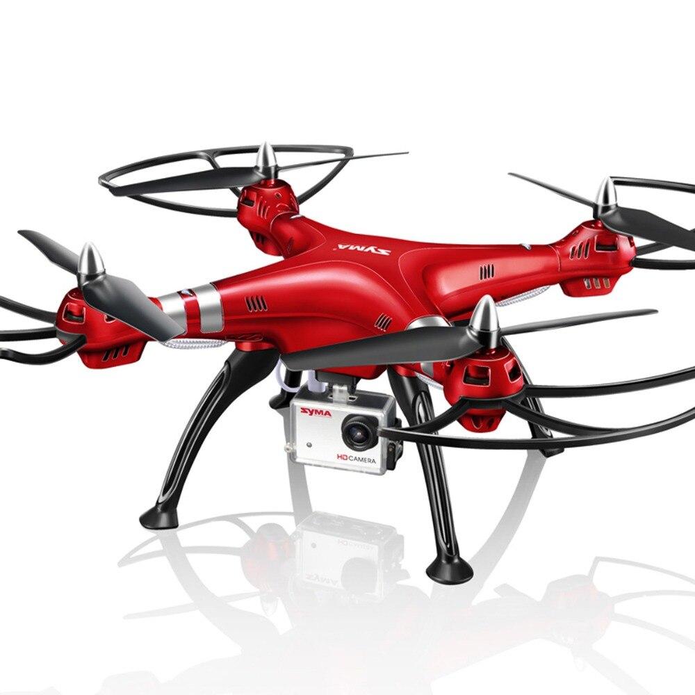 Syma rojo profesional uav x8hg 2.4g 6-axis 4ch 1080 p hd cámara de Giroscopio de